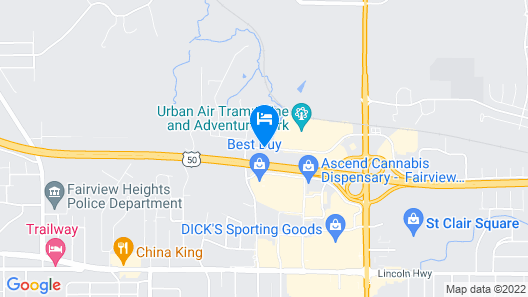 Comfort Suites Fairview Heights Map