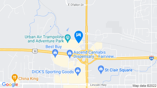 Super 8 by Wyndham Fairview Heights-St. Louis Map