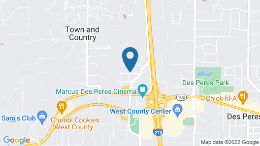 Residence Inn by Marriott St. Louis West County Map
