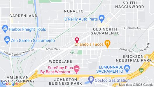 The Greens Hotel - Del Paso Blvd Map