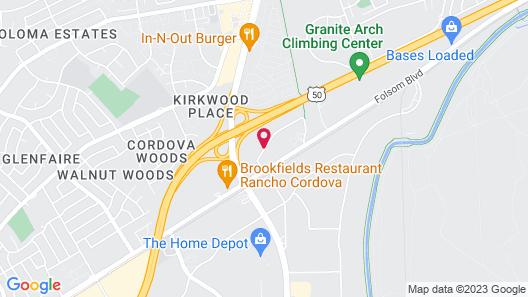 Holiday Inn Rancho Cordova Map