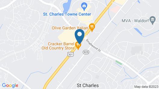 Hampton Inn Waldorf Map