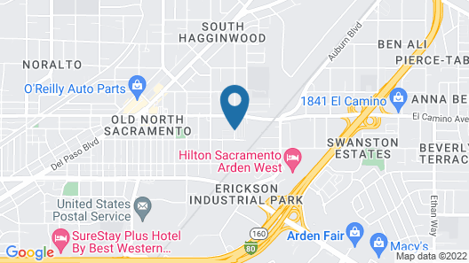 Arden Acres Executive Suites and Cottages Map