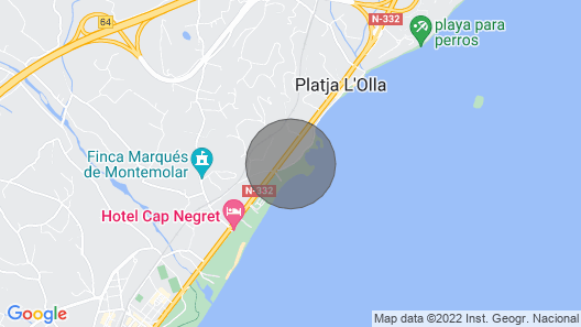 Apartment0 in Residential Quiet Area of Altea, Play Negret Playa Map