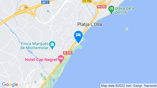 Apartment With 2 Bedrooms in Altea, With Wonderful sea View and Wifi Map