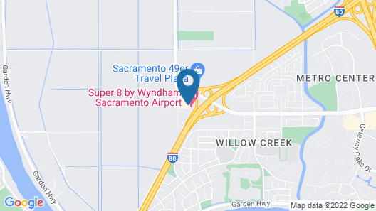 Super 8 by Wyndham Sacramento Airport Map