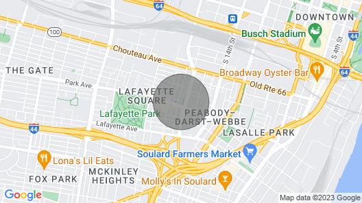 Mins to Downtown, Ballpark, Arch | Free Parking + W&D | Zencity at Bordeaux Map