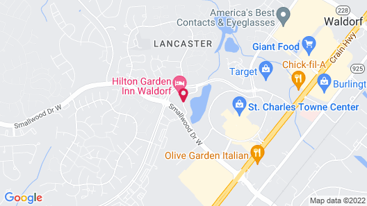 Hilton Garden Inn Waldorf Map