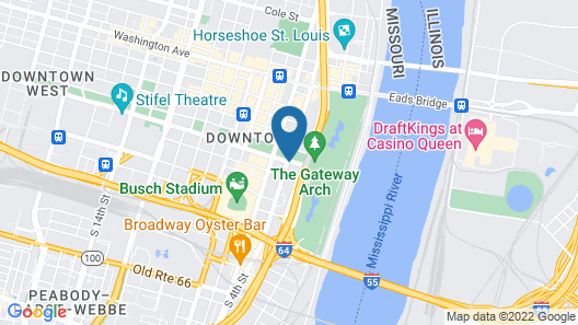 Drury Plaza Hotel St. Louis at the Arch Map