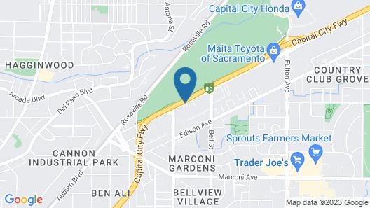 Hampton Inn & Suites Sacramento - Cal Expo Map