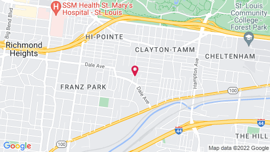 Entire Dogtown House Near Zoo, Forest Park and Wash U Map