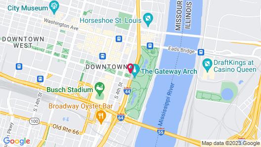 Hyatt Regency St. Louis at The Arch Map