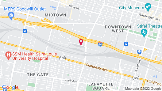 Residence Inn by Marriott St Louis Downtown Map