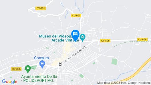 Hotel del Juguete Map