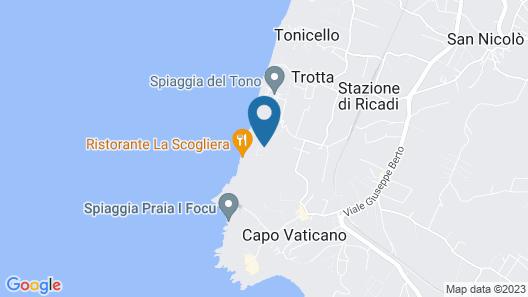 Villagio Camping La Scogliera Map