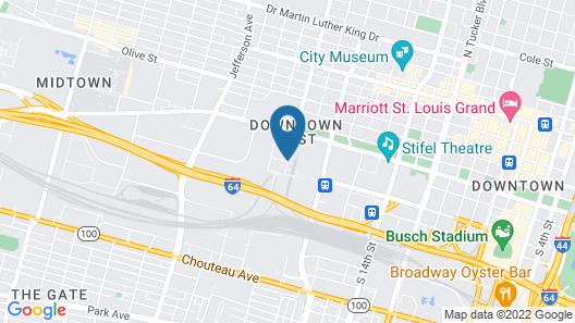 Drury Inn St. Louis at Union Station Map