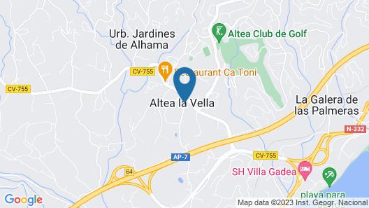 Splendid Villa in Artistic Village of Altea With Private Heated Pool Map