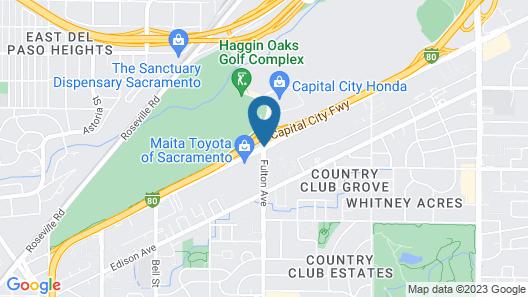 Ramada by Wyndham Sacramento Map