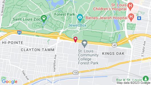 Hampton Inn & Suites St. Louis at Forest Park, MO Map