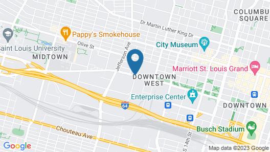 Pear Tree Inn St. Louis Near Union Station Map