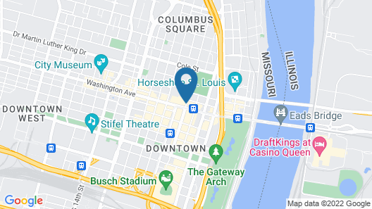 Embassy Suites by Hilton St. Louis Downtown Map