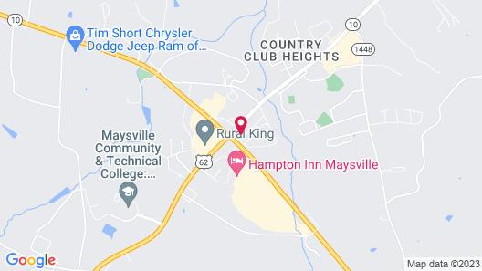 Quality Inn Maysville Area Map