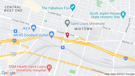 The Modern Suites at St. Louis University Map