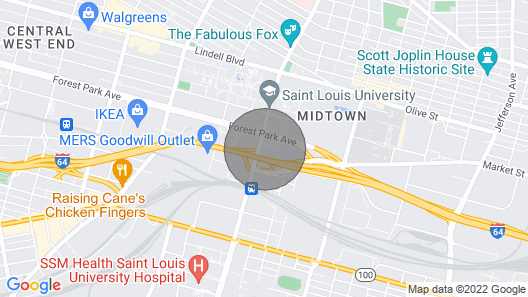 Spacious 2-bedroom Suite + Gym Map