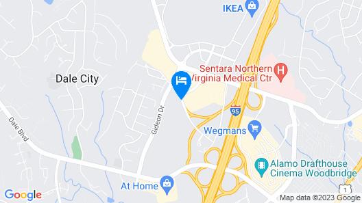 Best Western Potomac Mills Map