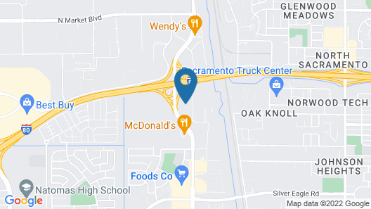 Extended Stay America Suites Sacramento Northgate Map
