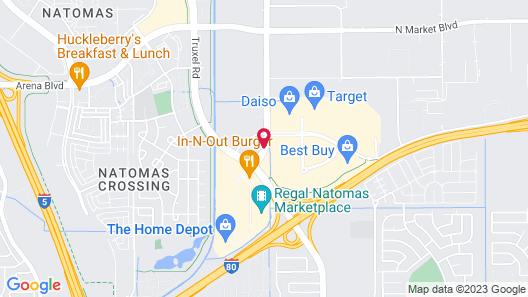 Staybridge Suites Sacramento Airport Natomas Map