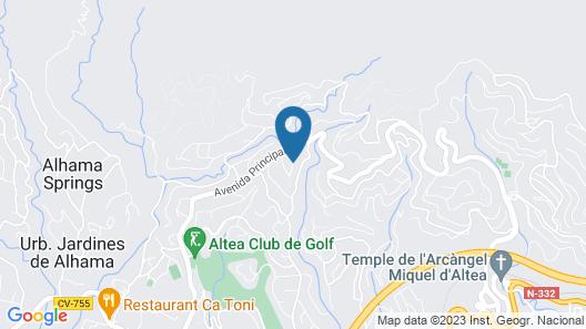 Villa Jasmin - Near Club de Golf Don Cayo Map