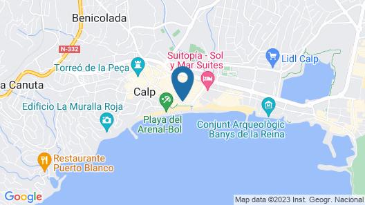 Caribe Playa Costa Calpe Map