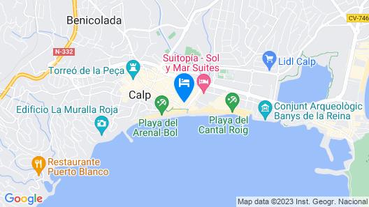 Arenal Costa Calpe Map