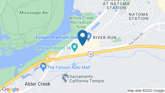 Hilton Garden Inn Folsom Map