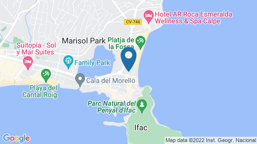 Apartamentos Zafiro Map