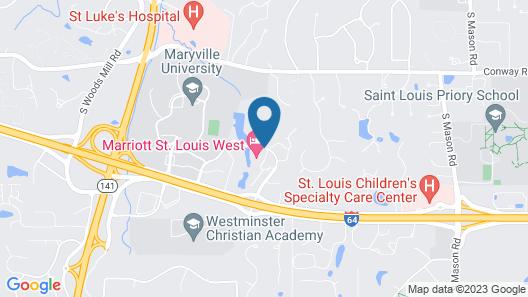 Marriott St. Louis West Map