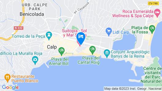 Suitopía Sol y Mar Suites Hotel Map