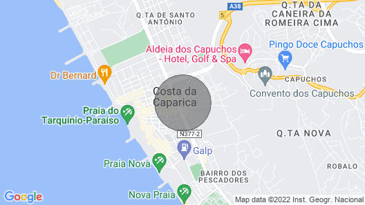 2 Room Apartment - 5 Minutes to Costa da Caparica Beach and Bars Map