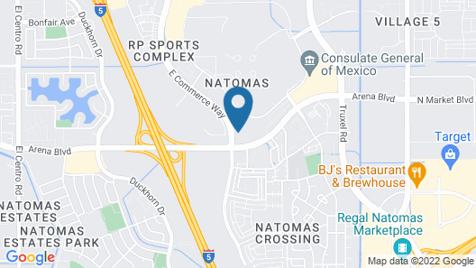 TownePlace Suites by Marriott Sacramento Airport Natomas Map