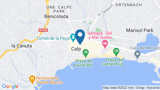 Plaza Ifach Map