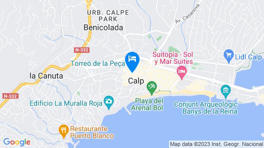 Hotel Galeón Map