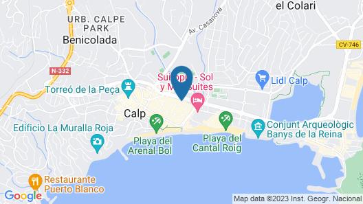 Apartamentos Apolo VII - Costa Calpe Map