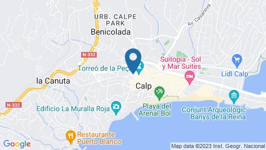 Hostel Sea & Dreams Calpe Map