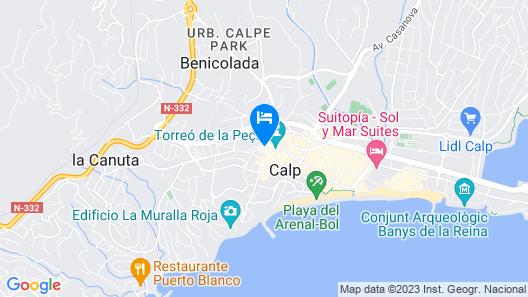 Hostel SEA&DREAMS Calpe Map