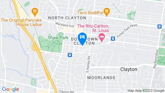 Le Méridien St. Louis Clayton Map