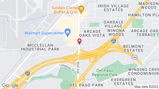 Americas Best Value Inn North Highlands Sacramento Map