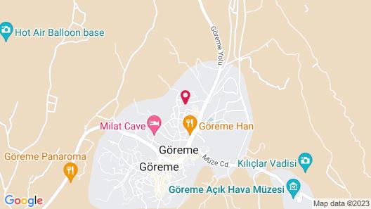 Osmanli Cappadocia Hotel Map