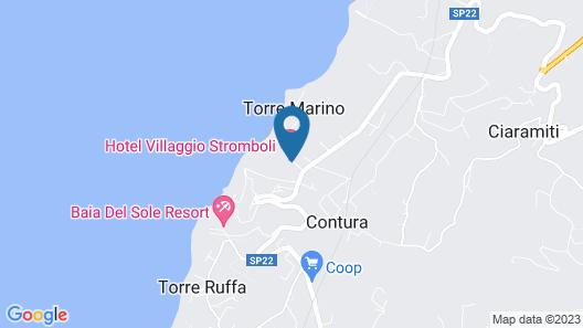 Hotel Villaggio Stromboli Map