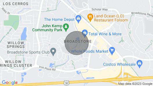 On Folsoms Walden Pond- Best Location in Folsom - Artsy, & Comfortable, Map